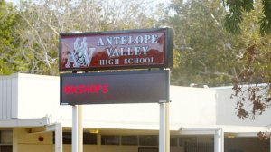 A teen has been arrested on suspicion of threatening to attack Antelope Valley High School in Lancaster, authorities said. (Credit: Brian Vander Brug/Los Angeles Times)