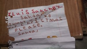 A letter to Santa was found following a crash that killed a 5-year-old boy in South Los Angeles. (Credit: KTLA)