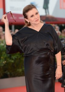 Carrie Fisher attends the 70th Venice International Film Festival at the Palazzo del Cinema on August 28, 2013 in Venice, Italy.  (Credit: Ian Gavan/Getty Images)