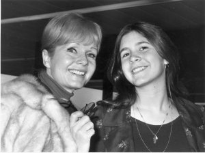 American actress Debbie Reynolds is seen with her daughter Carrie Fisher on Feb. 12, 1972. (Credit: Dove/Evening Standard/Getty Images)