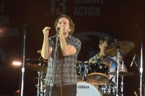 Musician Eddie Vedder of Pearl Jam performs on stage at the 2015 Global Citizen Festival to end extreme poverty by 2030 in Central Park on September 26, 2015 in New York City. (Credit: Theo Wargo/Getty Images for Global Citizen)