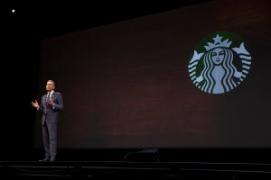 Starbucks CEO Howard Schultz speaks during during the Starbucks annual shareholders meeting on March 23, 2016, in Seattle, Washington. (Credit: Stephen Brashear/Getty Images)