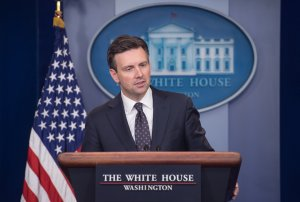 In this file photo, White House spokesman Josh Earnest speaks at the daily press briefing at the White House in Washington, DC, on October 31, 2016. (Credit: NICHOLAS KAMM/AFP/Getty Images)