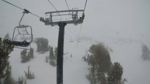 Snow falls at Mammoth Mountain on Dec. 15, 2016. (Credit: Mammoth Mountain)