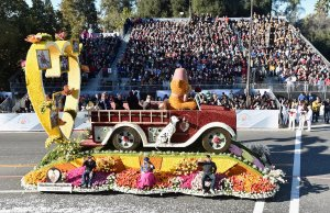 The Shriners Hospital for Children float participates in the 127th Tournament of Roses Parade on January 1, 2016. (Credit: Alberto E. Rodriguez/Getty Images)