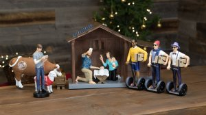 """The Modern Nativity Set depicts a """"hipster"""" version of the biblical scene of Jesus' birth. (Credit: Modern Nativity)"""