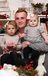Vadim Kondratyuk Anatoliyevich is pictured with his two daughters on a GoFundMe page.