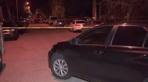 A man was shot and killed after allegedly pointing a gun at an officer in Azusa on Jan. 15, 2017. (Credit: KTLA)