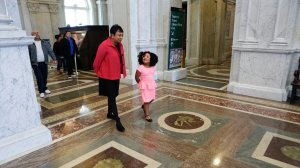 Librarian of Congress Carla Hayden posted this photo of her with Daliya Arana touring the Library of Congress on Jan. 11, 2017.
