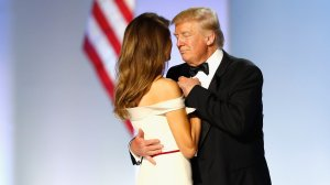 President Donald Trump and first lady Melania Trump dance at the Freedom Inaugural Ball at the Washington Convention Center Jan. 20, 2017, in Washington, D.C. (Credit: Aaron P. Bernstein / Getty Images)