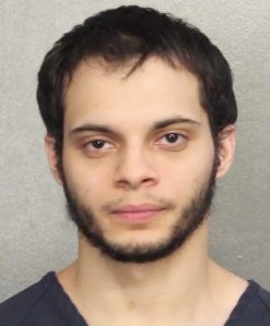 Esteban Santiago is shown in a booking photo released by the Brevard County Sheriff's Office.
