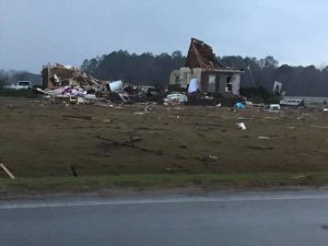 Severe weather has killed at least 11 people in Southern Georgia, officials said on Jan. 22, 2017. (Credit: Tiffany Santana via CNN)