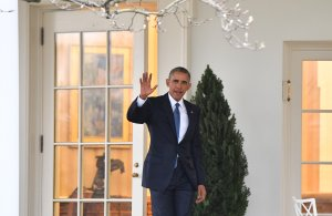 President Barack Obama leaves the White House for the final time as President as the nation prepares for the inauguration of President-elect Donald Trump on Jan. 20, 2017 in Washington, D.C. (Credit: Kevin Dietsch-Pool/Getty Images)
