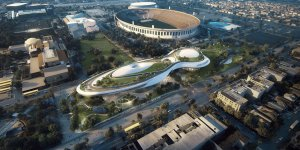 Renderings provided by Lucas Museum of Narrative Art show the proposed museum.
