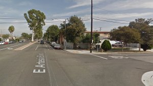 The 200 block of East Artesia Boulevard in Long Beach is seen in this image from Google Maps.