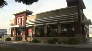 A Paramount KFC location where an alleged attempted kidnapping occurred is shown on Jan. 4, 2017. (Credit: KTLA)