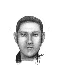 Riverside Police officials released this sketch of a man they believe attempted to kidnap a woman on Jan. 15, 2017.