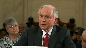 Sen. Jeff Sessions began the defense of his nomination for Donald Trump's attorney general on Tuesday, January 10, 2017 by emphasizing a theme of enforcing law and order and strongly pushed back against allegations of racism in his long career. (Credit: Pool)