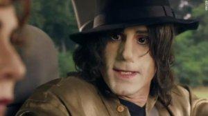 A still from Sky Arts shows Joseph Fiennes as Michael Jackson.