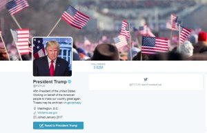 The @POTUS account was transferred to Donald Trump immediately after the inauguration Jan. 20, 2017. For a time, the page featured a photo from President Obama's inauguration.