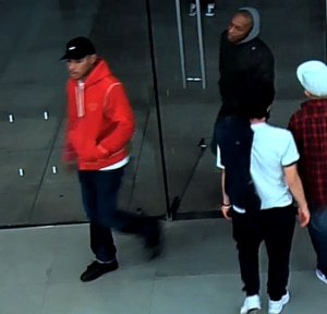 A still image provided by Glendale police shows two men who robbed an Apple Store on Jan. 30, 2017.