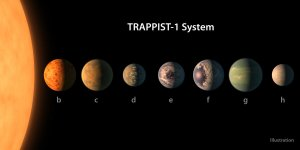 NASA released this illustration of the TRAPPIST-1 System.