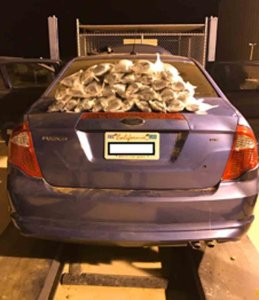 Packages of meth were found in this vehicle's gas tank at a U.S. Border Patrol checkpoint on Feb. 6, 2017. (Credit: U.S. Customs and Border Protection)