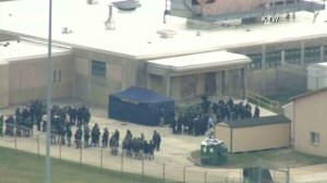 A hostage situation was unfolding at a Delaware prison on Feb. 1, 2017. (Credit: WYW)