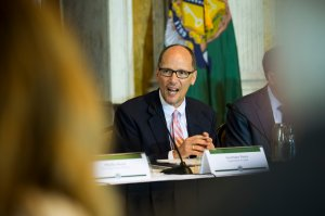 U.S. Department of Labor Secretary Thomas Perez delivers remarks during a public meeting of the Financial Literacy and Education Commission at the United States Treasury on June 29, 2016 in Washington, DC. (Credit: Pete Marovich/Getty Images)