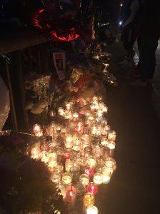 Candles were lit in honor of Elias Rodriguez on Feb. 27, 2017. (Credit: Elizabeth Espinosa)