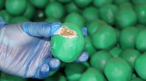 U.S. Customs and Border Protection found nearly 4,000 pounds of marijuana camouflaged within a shipment of key limes in Pharr, Texas. (Credit: U.S. Customs and Border Protection)