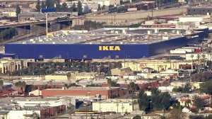 The massive new IKEA Burbank is set to open Feb. 8. (Credit: KTLA)