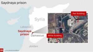 """A report by Amnesty International human rights group says up to 13,000 people have been executed at the Syraian Saydnaya prison north of the capital Damascus in a """"hidden"""" campaign authorized by senior regime figures in a secret crackdown on dissent by the regime of Bashar al-Assad. (Credit: Amnesty International)"""