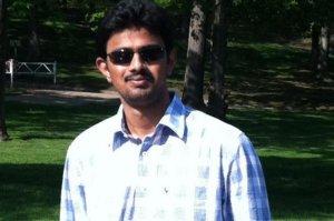 Srinivas Kuchibhotla is shown in a photo from a GoFundMe page.