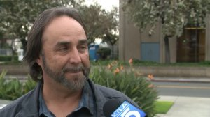 Ted Twardak on Feb. 7, 2017 describes how he was victimized by a credit card scam. (Credit: KTLA)