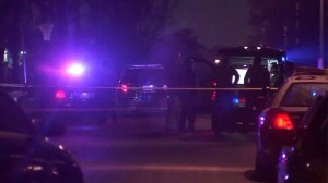 Sheriff's homicide detectives were investigating the fatal stabbing of a woman in Valinda on Feb. 6, 2017. (Credit: KTLA)