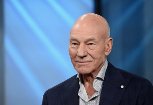"""Patrick Stewart attends the Build Series Presents Hugh Jackman And Patrick Stewart Discussing """"Logan"""" at Build Studio on March 2, 2017 in New York City. (Credit: Jamie McCarthy/Getty Images)"""