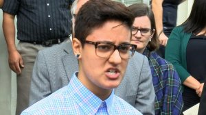 Daniela Vargas speaks at a news conference on March 1, 2017. (Credit: WJTV via CNN)