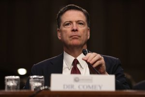 Former FBI Director James Comey testifies before the Senate Intelligence Committee in the Hart Senate Office Building on Capitol Hill on June 8, 2017 in Washington, D.C. (Credit: Chip Somodevilla/Getty Images)