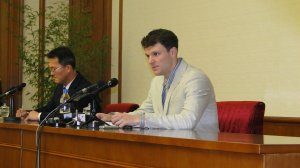 American college student Otto Warmbier is shown in a photo from the North Korean government.