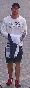 Joshua Stevens is shown in a surveillance still released by the Beverly Hills Police Department on July 21, 2017.