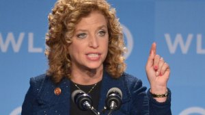 Democrat Rep. Debbie Wasserman Schultz of Florida speaks at the DNC's Leadership Forum Issues Conference in Washington, DC, on Sept. 19, 2014. (Credit: MANDEL NGAN/AFP/Getty Images)