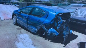 A photo of the badly damaged Prius was released by CHP on Aug. 22, 2017.