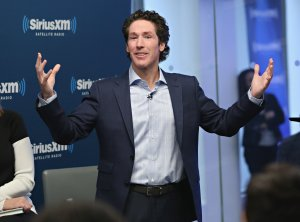 Joel Osteen participates in 'Joel Osteen Live' featuring Joel and Victoria Osteen with special guests Fr. Ed Leahy, A. J. Calloway and Matt and Laurie Crouch at SiriusXM Studios on October 3, 2016 in New York City. (Credit: Cindy Ord/Getty Images)