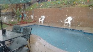 KTLA viewer Lynn reported rain and pea-size hail in Murrieta on Aug. 31, 2017.