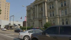 A suspect was fatally shot after opening fire on a judge near a courthouse in Steubenville, Ohio, on Aug. 21, 2017. (Credit: WTRF)