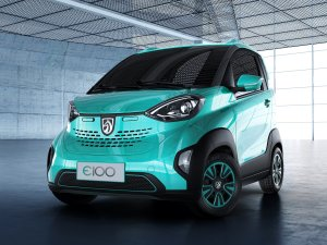 General Motors will start selling a tiny electric car in China this week that will cost about $5,300. (Credit: General Motors)