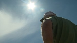A Portland man who watched a solar eclipse in 1963 says the experience left him partially blind in one eye, and now he wants everyone to know the warnings about eye damage during the upcoming eclipse are no joke. (Credit: KPTV)