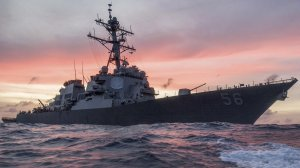 The USS John S. McCain conducts a patrol in the South China Sea, Jan. 22, 2017. (Credit: CNN/Petty Officer 3rd Class James Vazquez)