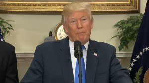 President Trump and Republican senators unveiled a new immigration plan during a news conference on Aug. 2, 2017. (Credit: CNN)